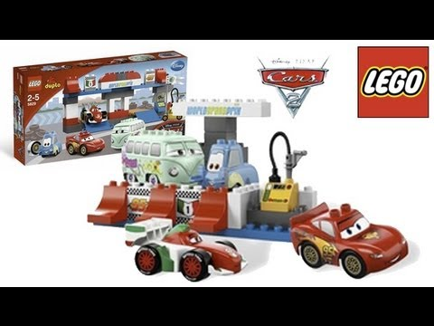 LEGO DUPLO Disney Cars Set #5829 The Pit Stop toy review лего дупло